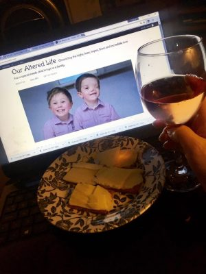 blogging with cheese and wine