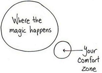 Magic happens outside the comfort zone