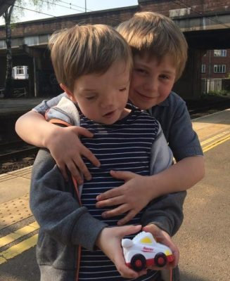 Cuddles for Harry from Oliver