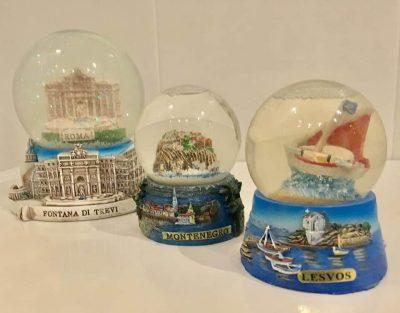 Oliver's snow globes