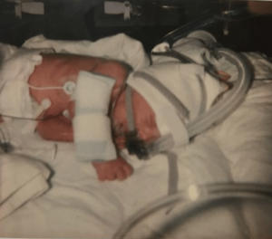 My premature boys covered in wires in Special Care