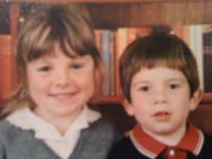 Me and my brother at school